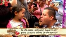 La niña Alessia Lambruschini llegó al Ecuador para cautivar miles de corazones