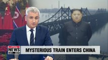 Train presumed to be carrying high-ranking North Korean official crossed into China late Monday night