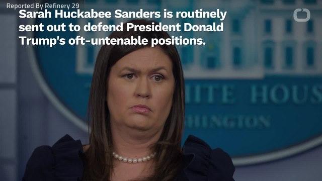 Body Language Expert Analyzes Sarah Huckabee Sanders Mid-Lie