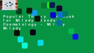 Popular Theory Workbook for Milady Standard Cosmetology Milady Milady