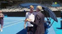 Open d'Australie 2019 - Kyle Edmund a fêté son anniversaire avec Roger Federer sur le Rod Laver Arena