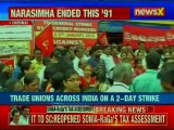 Trade Unions across India on a 2-day strike; 20 crore workers expected to join strike