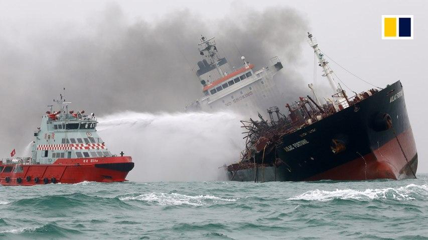 Deadly oil tanker blaze off Hong Kong