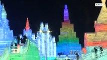 Harbin ice contestturnscity into magic icy kingdom