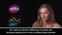 "Sydney - Kvitova : ""Contente de ma performance"""