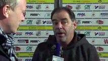 Après le match Amiens SC - SCO d'Angers, Stéphane Moulin