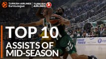Turkish Airlines EuroLeague, Top 10 Assists of Mid-Season