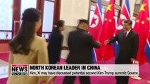 N. Korean leader holds summit with Chinese leader Xi in Beijing ahead of possible Trump meeting