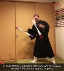 Japanese monks send Internet into frenzy with videos showing things they can do in traditional robes