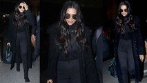 Deepika Padukone made our jaws drop with her all-black airport look | Boldsky