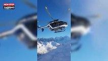 Un skieur filme un incroyable sauvetage en hélicoptère dans les Alpes (vidéo)
