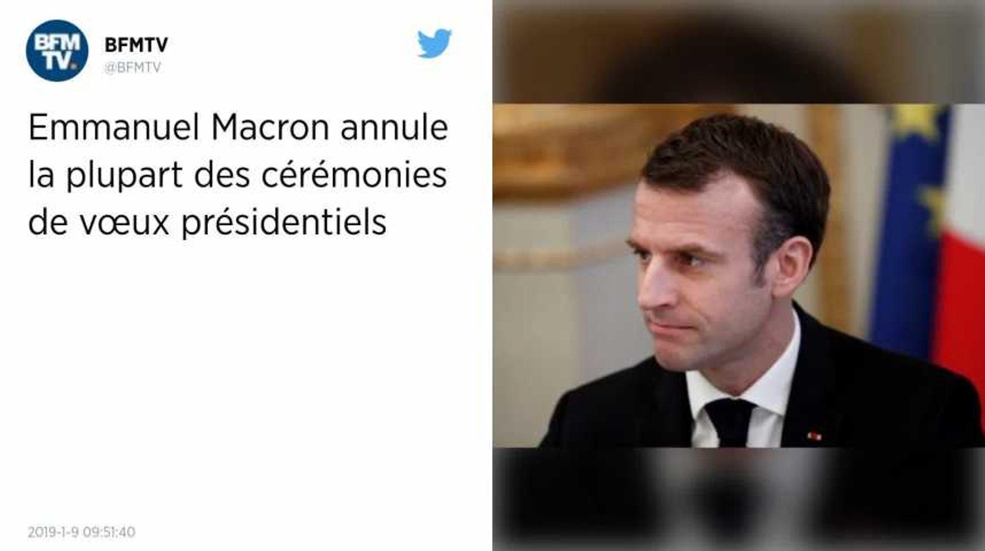 Emmanuel Macron Supprime Ses Ceremonies De Vœux Pour Se Concentrer Sur Le Grand Debat Video Dailymotion