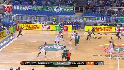EuroLeague 2018-19 Highlights Regular Season Round 17 video: Panathinaikos 77-67 Bayern