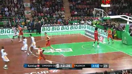 7Days EuroCup Highlights Top 16, Round 2: Limoges 74-79 Valencia
