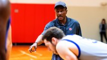 Coach Dwane Casey Leads the Pistons Through Practice