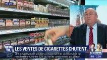 Les ventes de cigarettes chutent