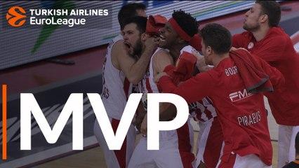 Round 17 MVP: Kostas Papanikolaou, Olympiacos Piraeus