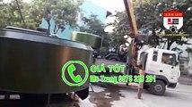 Máy trộn bê tông tự hành 2 khối (12 bao), xe trộn bê tông 12 bao thùng trộn 2000 lít, xe trộn bê tông 12 bao 2 cầu giá rẻ