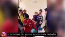 Leo Messi fait plaisir aux enfants malades, Memphis Depay fait son rap avec Aouar