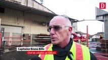 Un incendie ravage l'usine Toupnot à Lourdes
