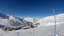 Belle ambiance ski ce jeudi à Val Thorens en Savoie