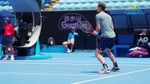 Open d'Australie 2019 - Andy Murray est de retour à Melbourne et s'est entrainé avec Novak Djokovic
