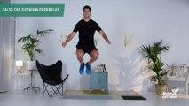 Salto con elevación de rodillas (hombre)