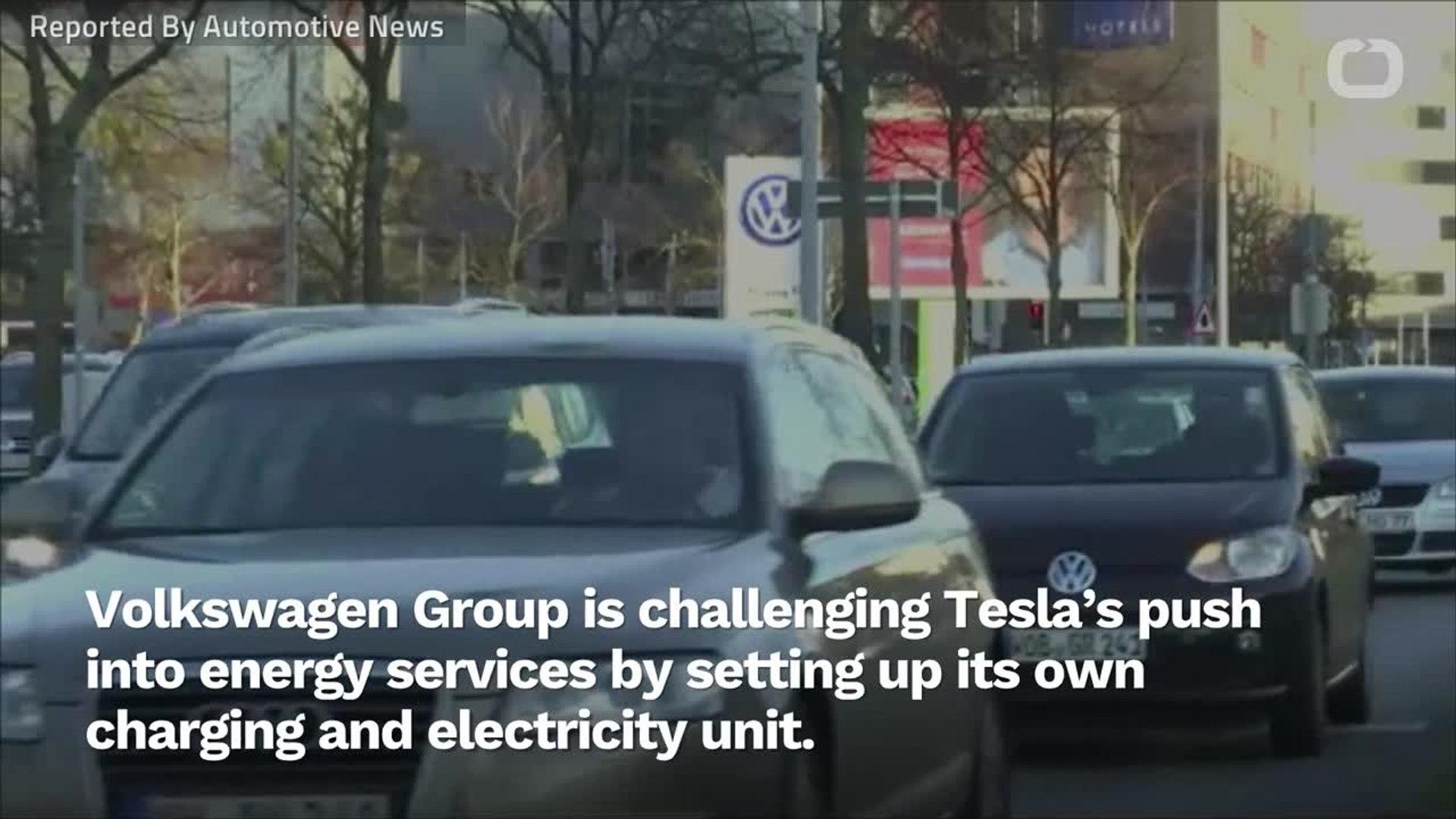 Volkswagen Challenges Tesla With EV Charging, Electricity Unit