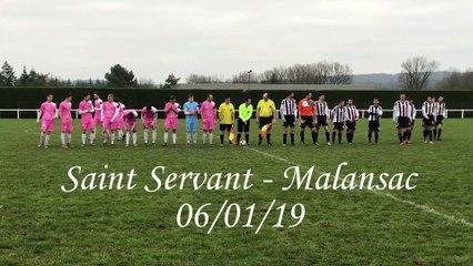 Résumé du match St Servant - Malansac 06/01/19