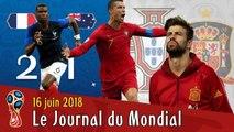 POGBA sauve les BLEUS, Triplé de RONALDO, PIQUÉ accuse CR7. Le Journal du Mondial 2018