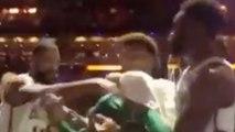 Marcus Morris SHOVES Jaylen Brown & CUSSES Him Out During Heated Exchange In Celtics Huddle!