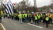 Manifestation de Gilets jaunes à Auray