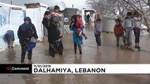 Sturm Norma trifft Flüchtlinge im Libanon hart