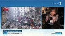 Paris : les pompiers mobilisés après l'explosion dans le 9e arrondissement