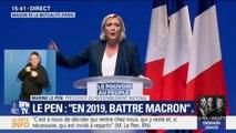 """Marine Le Pen: """"Avec nous, l'Aquarius n'abordera pas sur les côtes européennes"""""""
