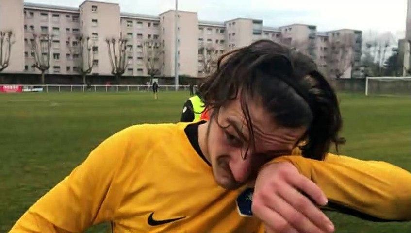 Gambardella U19 – Tom LAFOY réagit après la qualification de l'AS SAINT-PRIEST contre l'OM