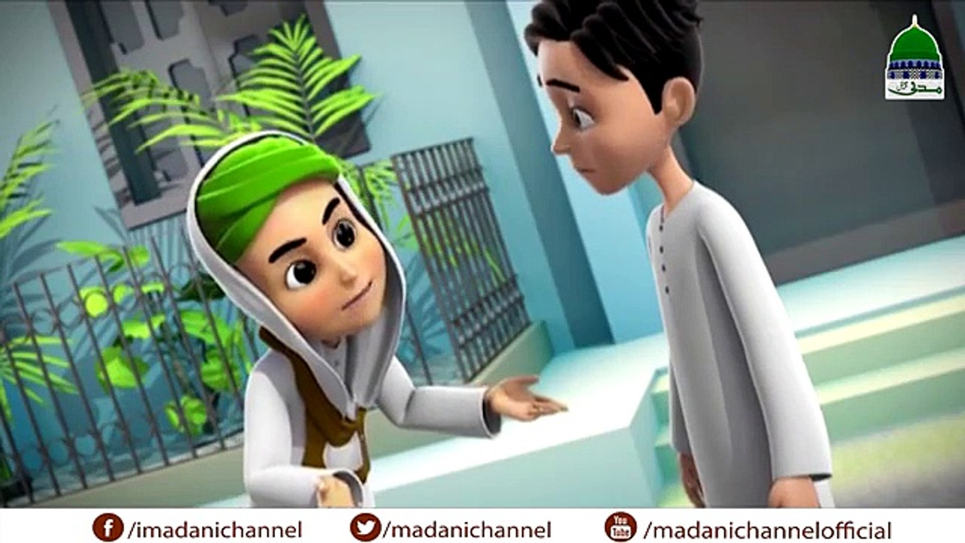 Islamic Kids Cartoon - 3D Animation - Kid Deals with Robbers - Kids Animation