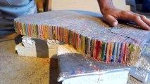 Ce YouTubeur fabrique une Fender Stratocaster à l'aide de 1200 crayons de couleur