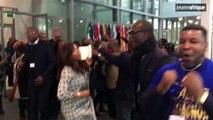 Côte d'Ivoire : quelques dizaines de partisans de Laurent Gbagbo fous de joie à la CPI