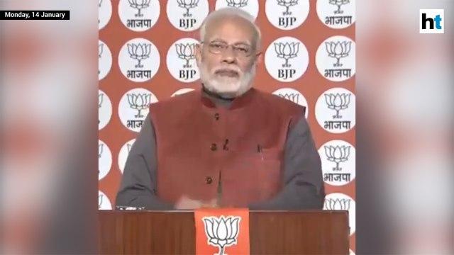 PM Modi seeks feedback on app, asks voters about impact of mahagathbandhan