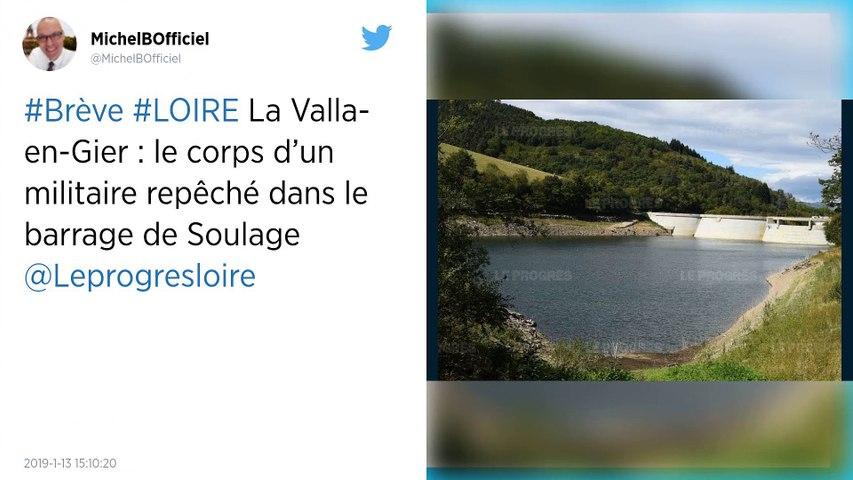 Loire. Le corps d'un militaire de 33 ans repêché.