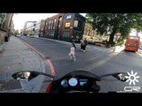 Motorcyclist Nearly Hits Little Girl