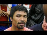 MANNY PACQUIAO Picks FAVORITE Active 147 Fighter!