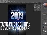 Timelapse Photoshop : un poster de star d'Hollywood
