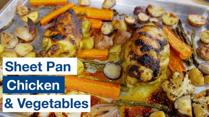 Sheet Pan Tray Bake Chicken with Lemon