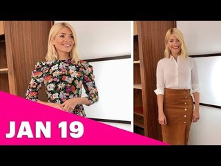 Holly Willoughby's This Morning Outfits January Week 1 2019