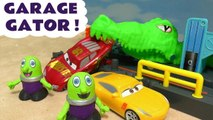Cars 3 Gator Accident and Rescue with Disney Pixar Lightning McQueen and Hot Wheels Marvel Avengers 4 and DC Universe Superheroes including Ironman to go up against the Monster - A fun toy story Mcqueen cars video for kids and preschool children