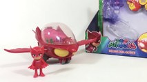 PJ Masks Deluxe Vehicles Owlette Owl Glider Gekko Catboy Just Play || Keith's Toy Box