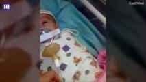 Russie: la vidéo d'un bébé hospitalisé forcé de garder une tétine dans la bouche
