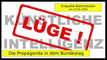 Künstliche Intelligenz & Enquete: wie in dem Bundestag über KI gelogen wird